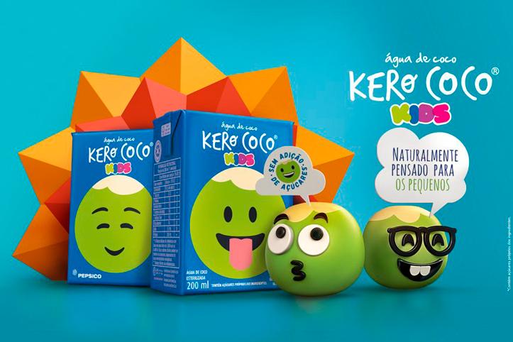 KERO COCO® tem água de coco feita especialmente para a lancheira das crianças