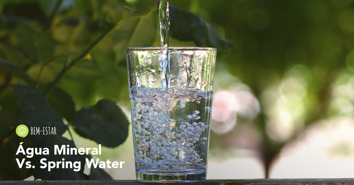 Água Mineral e Spring Water: Qual a Diferença?